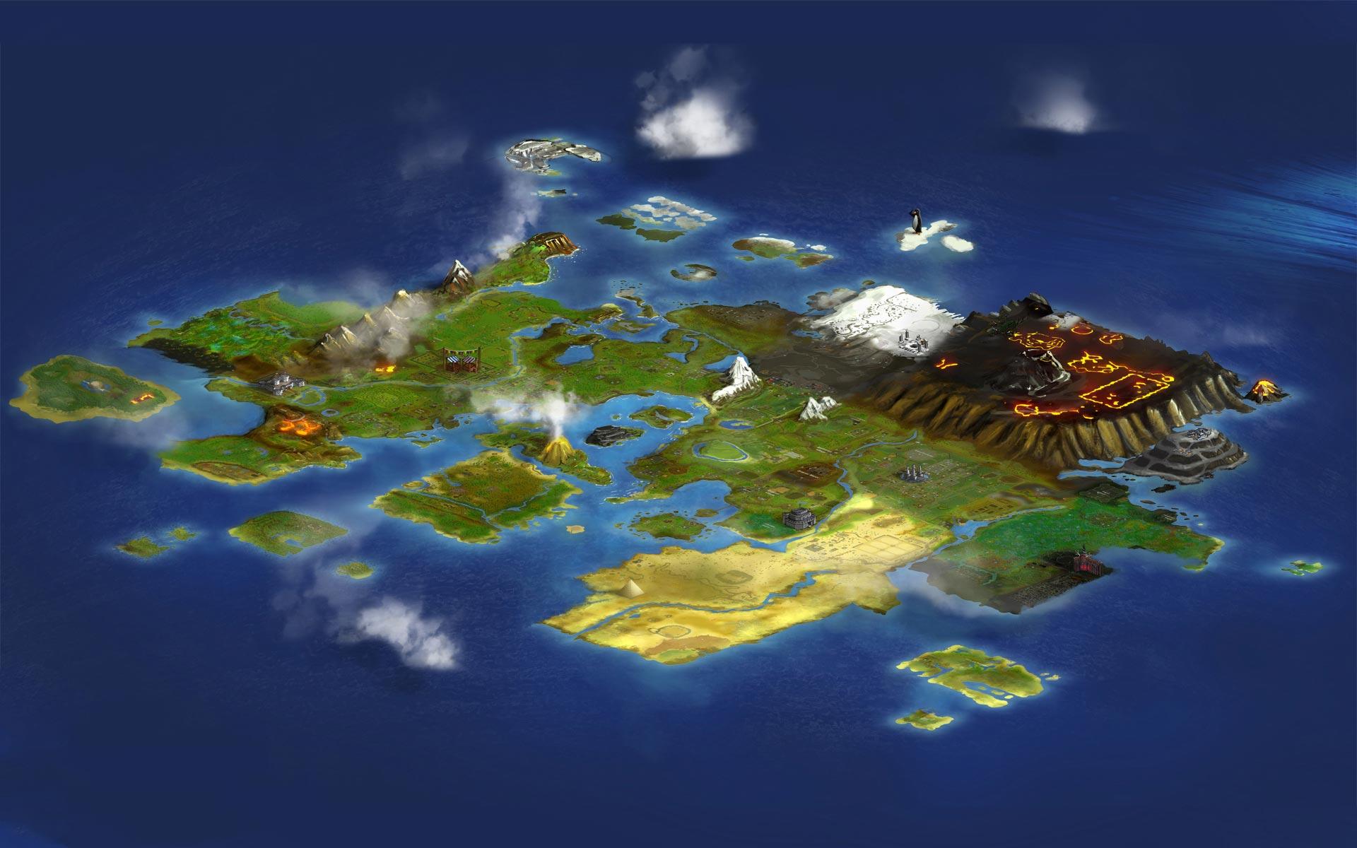 Gielinor - World Map - RuneScape Treasure Trails